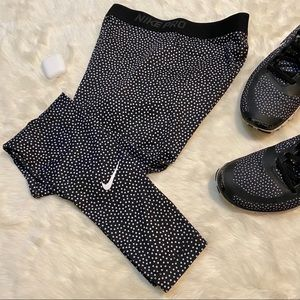 Nike Pro Dri-Fit Polka Dot Leggings - SMALL